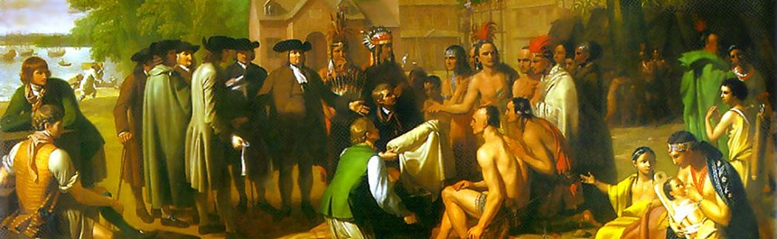 The federal government's first 'treaty of friendship' was signed