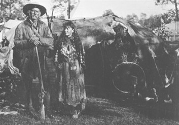 American Mountain Man And Wife