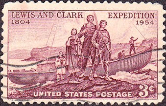 Lewis _and _Clark _1954_Issue -3c