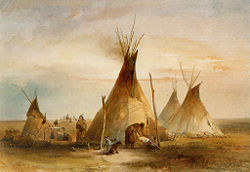 Sioux Tipis On The Plains